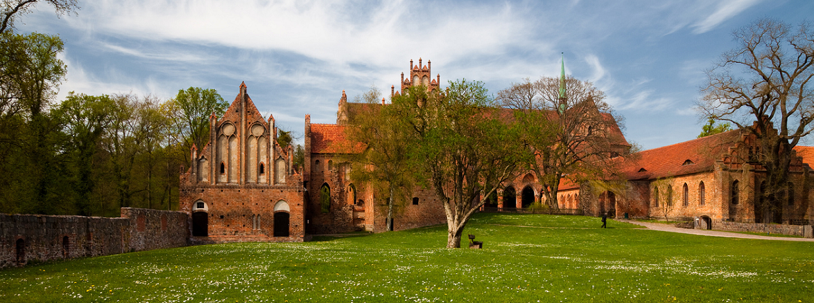 Ein Foto der Ruinen von Kloster Chorin im Landkreis Barnim