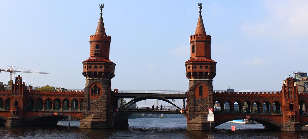 Foto von der Oberbaumbrücke.