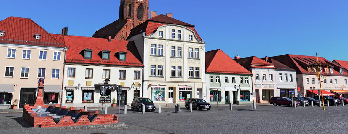 Die Altstadt von Beeskow in Oder-Spree