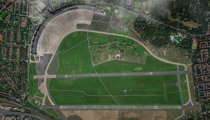 Luftbild Berlin ehemaliger Flughafen Tempelhof